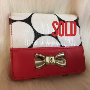 SOLD! FREE WITH PURCHASE! BUXTON Polka Dot Wallet